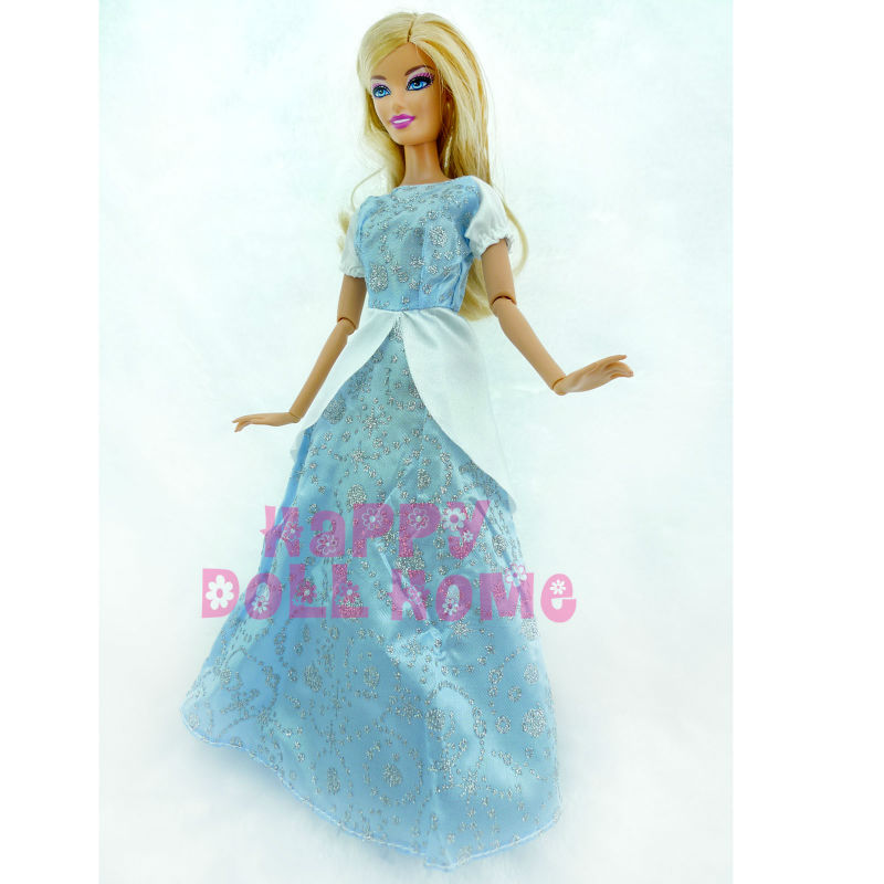 Cinderella Fairytale Fashion Pack Doll Accessories: Princess Wedding Dancing Ball Dress Fairy Tale Gown Copy