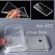 Ultra Thin TPU Soft Clear Case Cover and 0.26MM Tempered Glass Screen Protector For HTC ONE M7 M8 M9 Desire 626 816 820 826 E8