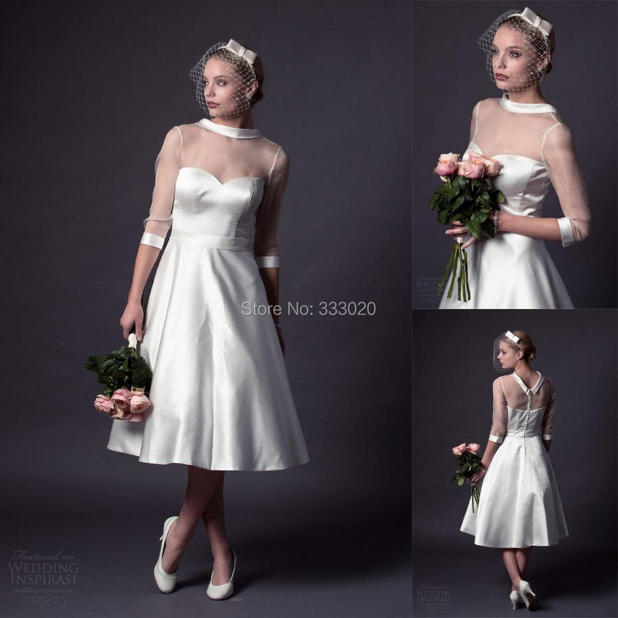 Vintage Three Quarter Length Wedding Dresses: Popular 1950s Ball Gowns-Buy Cheap 1950s Ball Gowns Lots