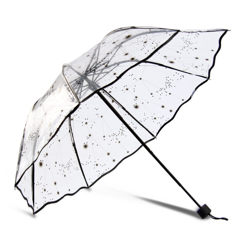 Top Selling Umbrella Rain Women Transparent Sunny And Rainy