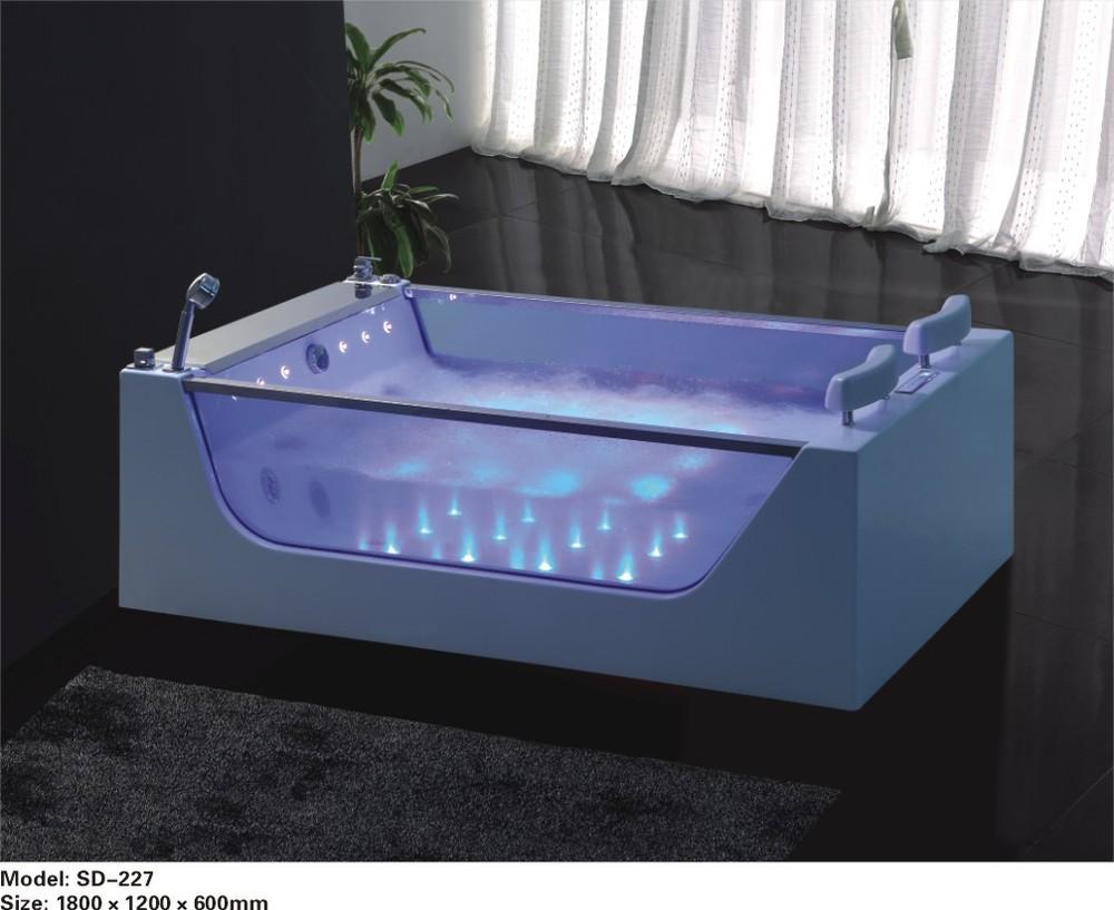 hs b227 de bain autoportant remous d 39 air massage double baignoire baignoire bains. Black Bedroom Furniture Sets. Home Design Ideas