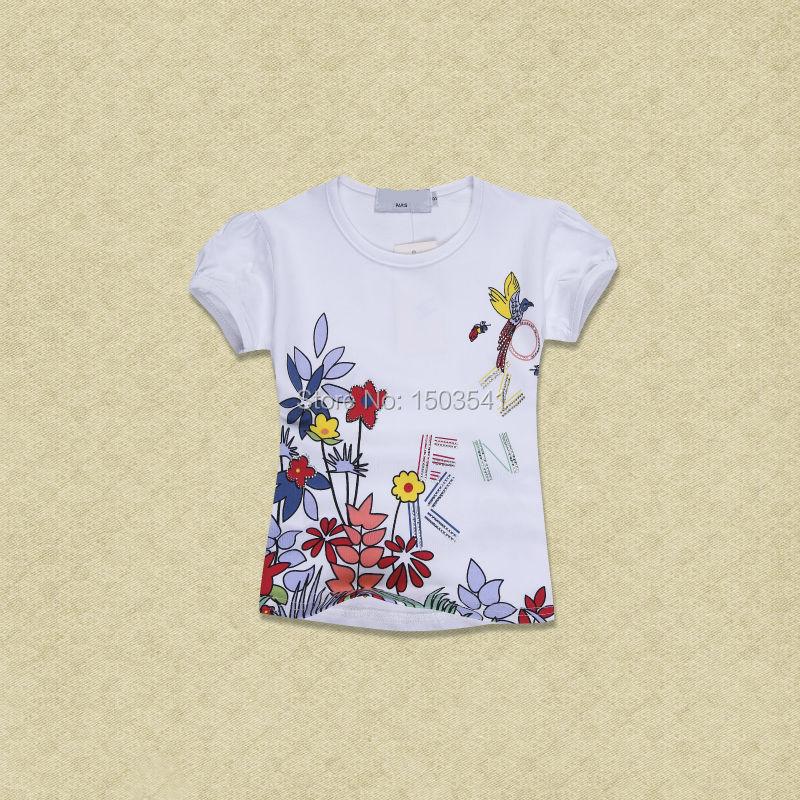 Baby Tops Children T shirt Girl Summer T Shirts Girls 2016 Fashion Printed Girls Tees T