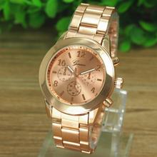Essential Shock Resistant Geneva Ladies Women Girl Unisex Stainless Steel Bracelet Wrist Watch Quartz Dress Watches
