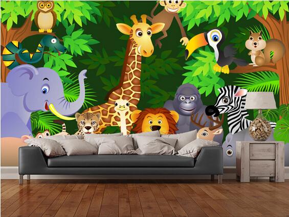 online kaufen gro handel kinder tapete dschungel aus china kinder tapete dschungel gro h ndler. Black Bedroom Furniture Sets. Home Design Ideas