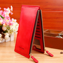 2015 Fashion Luxury Women Wallets Ultra-large Capacity Double Zippers Money Clip Lady Purses Clutch Handbags Card Holders J422
