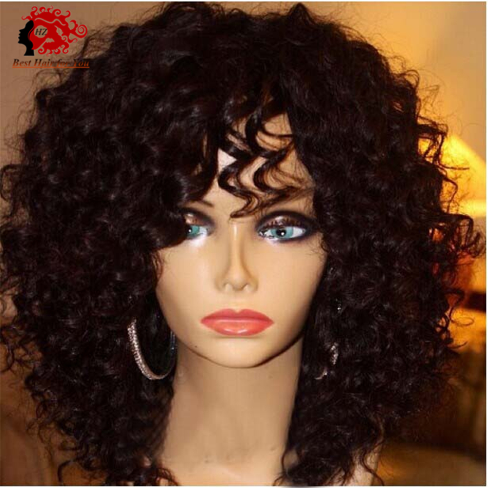 Top Quality Virgin Brazilian Front Lace Wigs / Full Lace