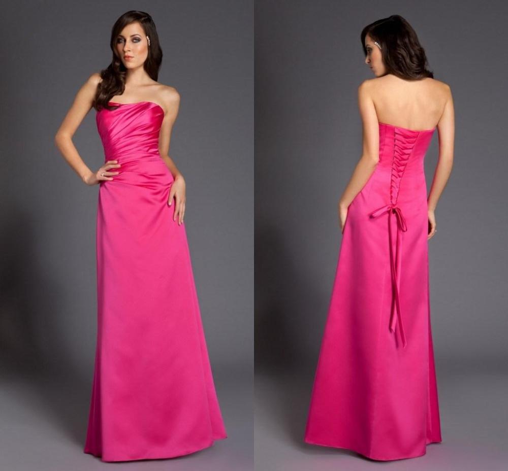 Dark Pink Bridesmaid Dresses 20