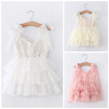 New arrival best quality Princess Baby Girls Lace Flower Tulle Tutu font b Fancy b font