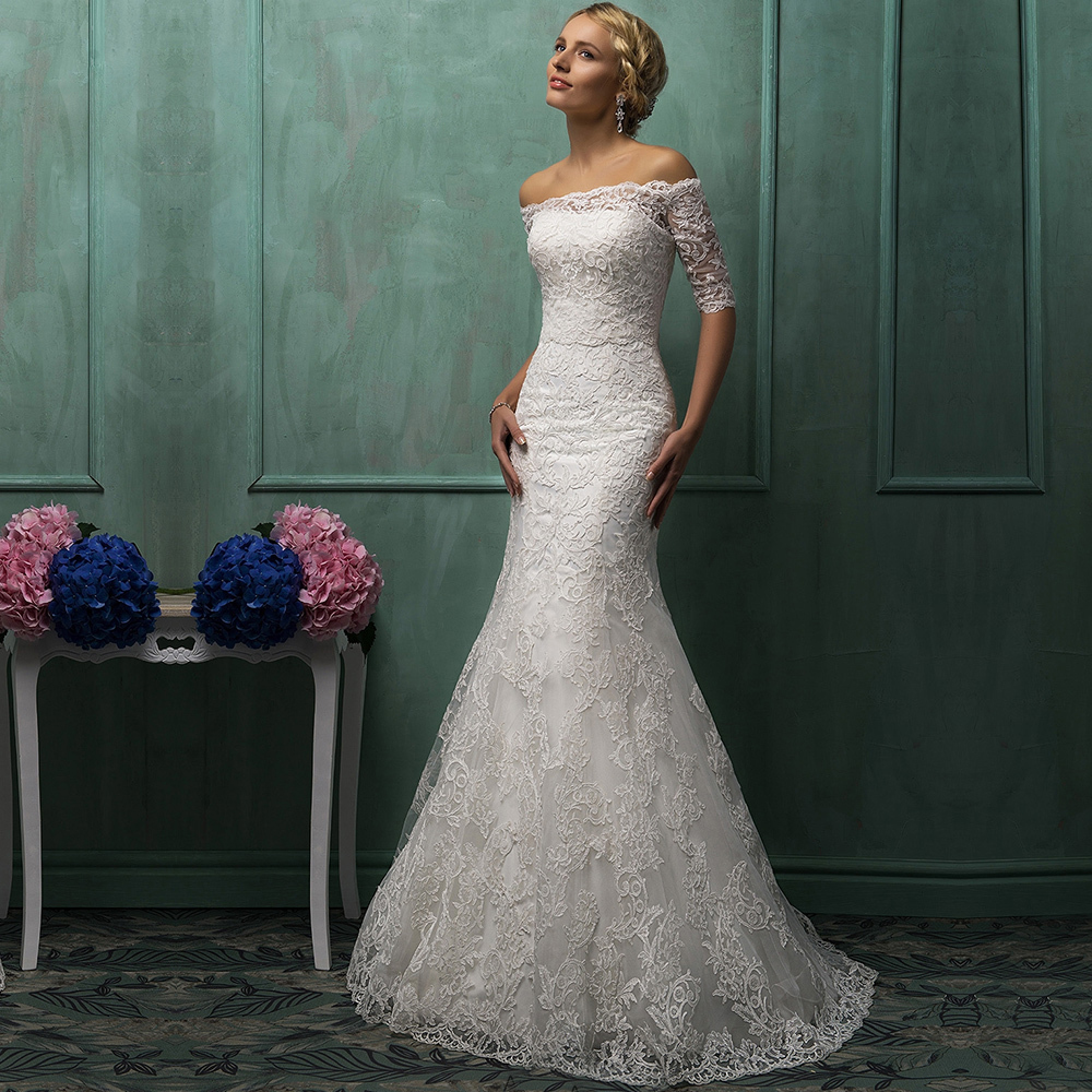 Bridal Dress With Detachable Train: 2015 Vintage Strapless Lace Mermaid Wedding Dress With
