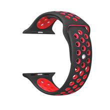 Мягкий силиконовый сменный Браслет для Apple Watch Series 4 1 2 3 дышащее отверстие iwatch band 42 мм iwatch band 38 мм ремешок(Китай)