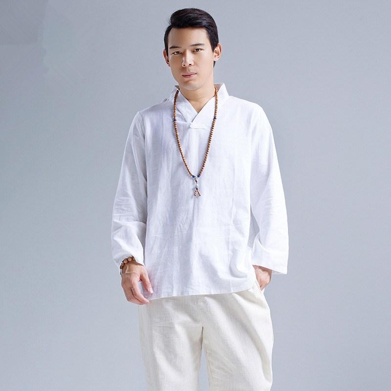 Promoción de Camisas Blancas De Lino Hombres - Compra