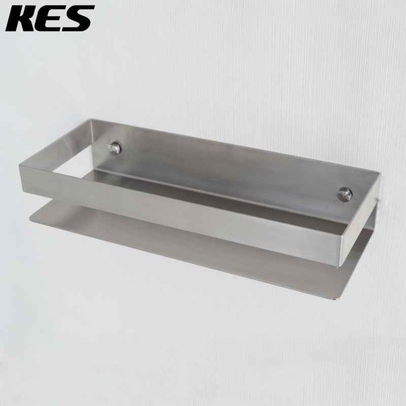 Kes solid sus 304 stainless steel shower caddy bath basket - Bathroom shelves stainless steel ...