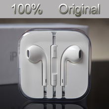 Free shipping 2015 100% Genuine New original earpod In-Ear Headphone With Remote & Mic For Apple IPhone 5 /5s/6 headset earphone