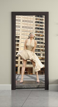 DIY греческий Парос арка 3D стикер для дверей, ПВХ материал, водонепроницаемый постер для дверей, наклейка на стену для гостиной, спальни, дома...(Китай)