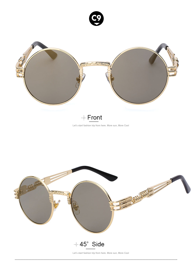 7914e16588 Detail Feedback Questions about Luxury Metal Sunglasses Men Round ...