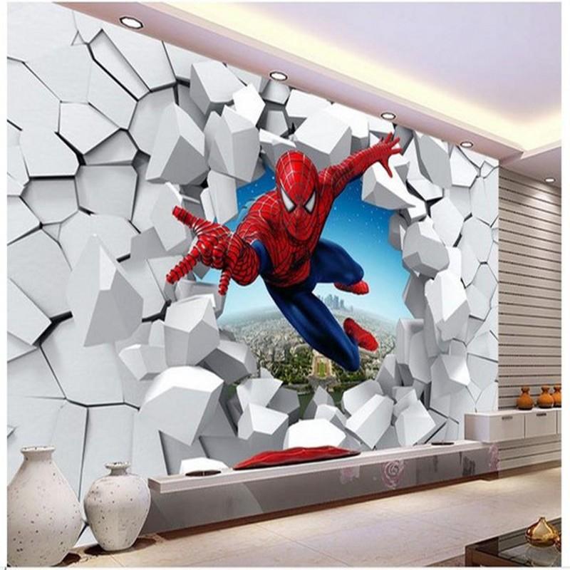 3d tapeten spiderman kaufen billig3d tapeten spiderman. Black Bedroom Furniture Sets. Home Design Ideas