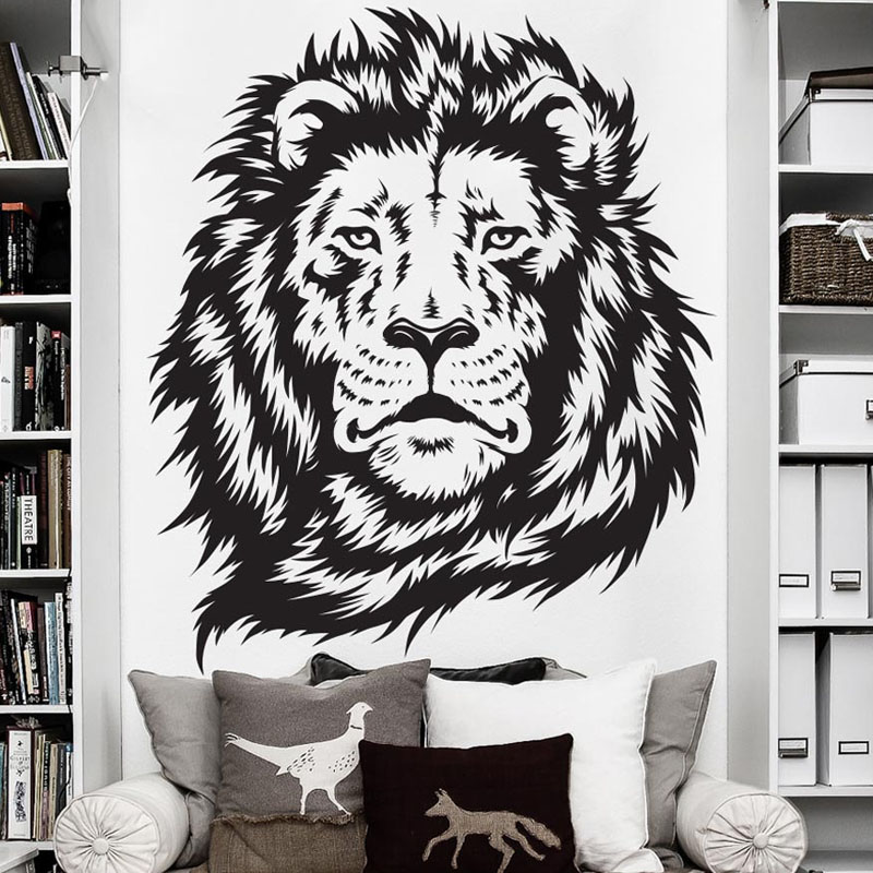 African lion wall decals removable vinyl stickers art home decor living room wall stickers for children