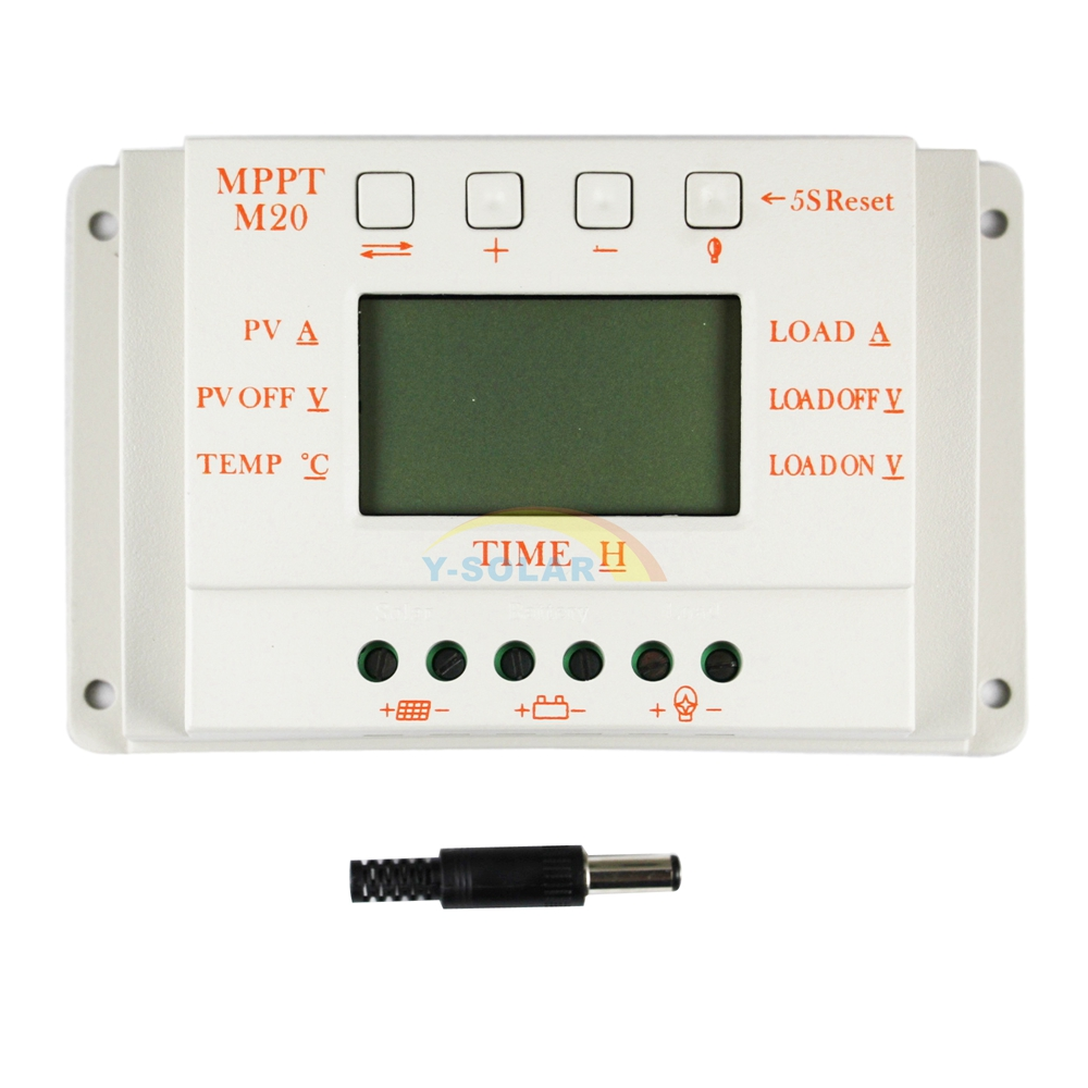 20a Solar Charge Controller 12v 24v Lcd Solar Panel