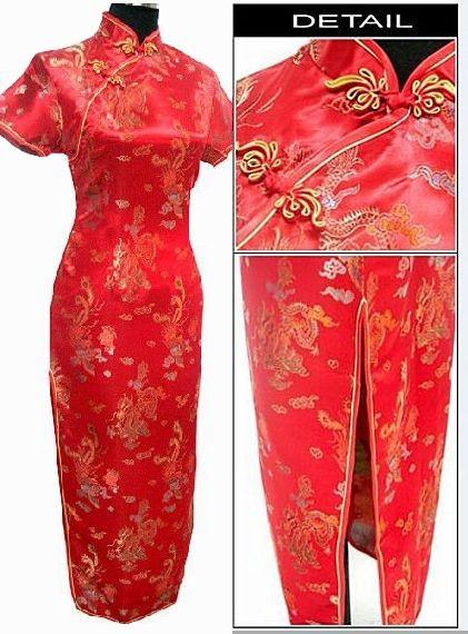 מכירה חמה כחול נייבי סינית מסורתית נשים Cheongsam סאטן צ ' יפאו שמלה ארוכה Mujer Vestido S M L XL XXL XXXL 4XL 5XL 6XL J3093