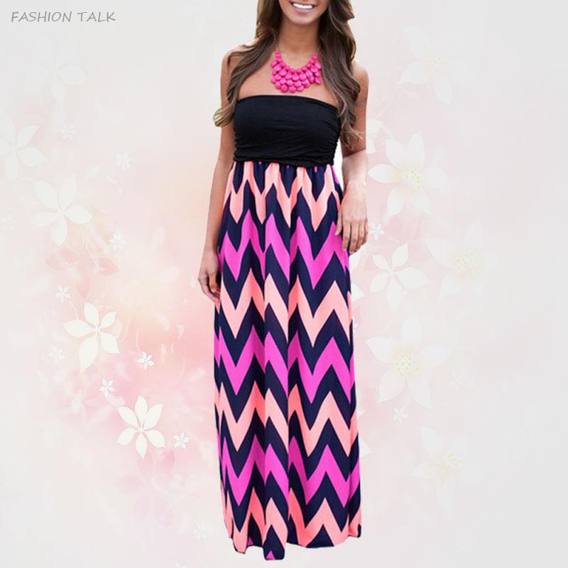 -High-Waist-Women-Strapless-Chevron-Stripe-Plus-Size ...