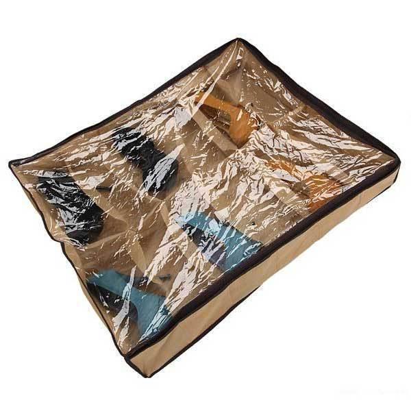 claremont 12 paar tidy unter bett stoff schuh speicher organisator box closet tasche in bitte. Black Bedroom Furniture Sets. Home Design Ideas