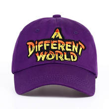 c00fe36b566 VORON 2017 new Purple Multi Color A Different World Dad Cap men women  Cotton baseball cap