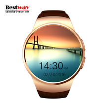 KW18 Smartwatch Bluetooth Reloj Inteligente Watches Blood Pressure Smart Health Heart Rate Monitor Watch SIM/TF Card Smartwach