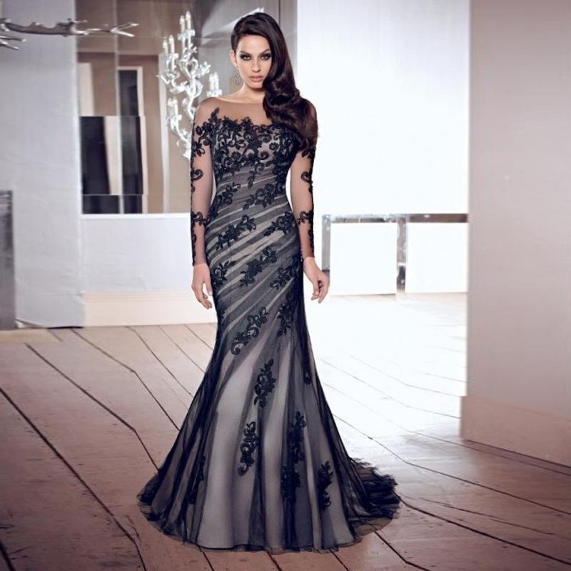elegant black prom dresses - photo #39