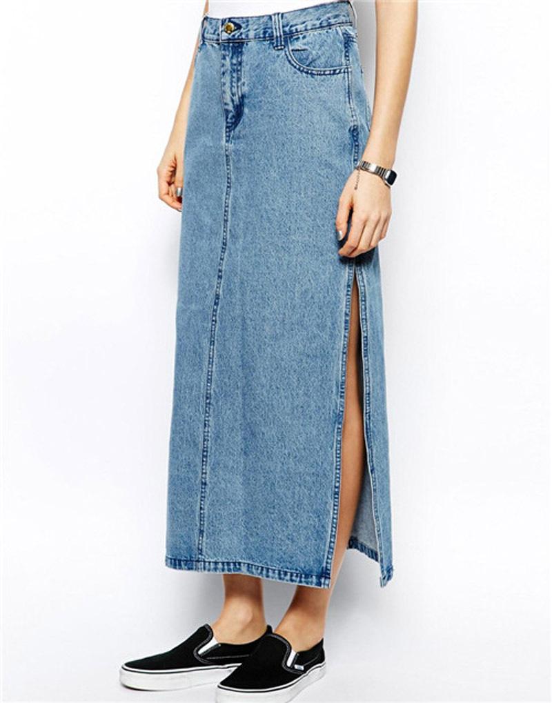 638a2ca4c87 Wholesale Long Denim Skirts For Women. sale merchandise