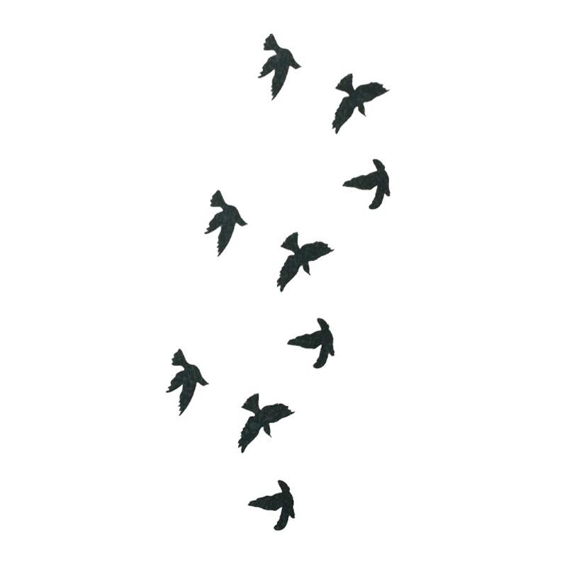 Maquinas De Tatuagem 2018 Moda Pulso Flash Tatuagem Falsa Tatuagem Aves Design à Prova D água Etiqueta Temporária Para A Arte Do Corpo Das Mulheres