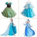 2015 Summer Girls Dress Elsa Anna Cosplay Dress vestidos infants princess Dresses Children Clothing Baby Kids
