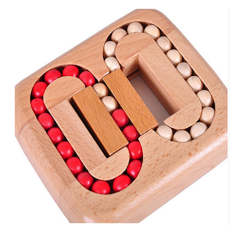 New Style IQ Mind Test Brain Teaser Beads Wooden Puzzle Game Toy for Adults and Kids
