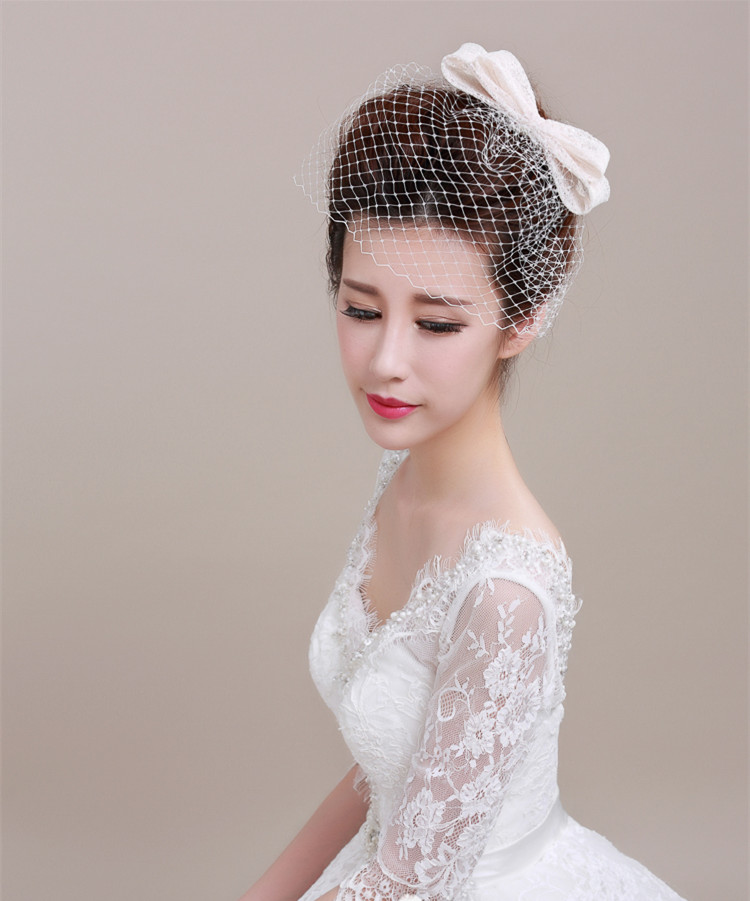 Vintage Wedding Hairstyles With Birdcage Veil: 2016 Vintage Wedding Bridal Hat Handmade Linen Birdcage