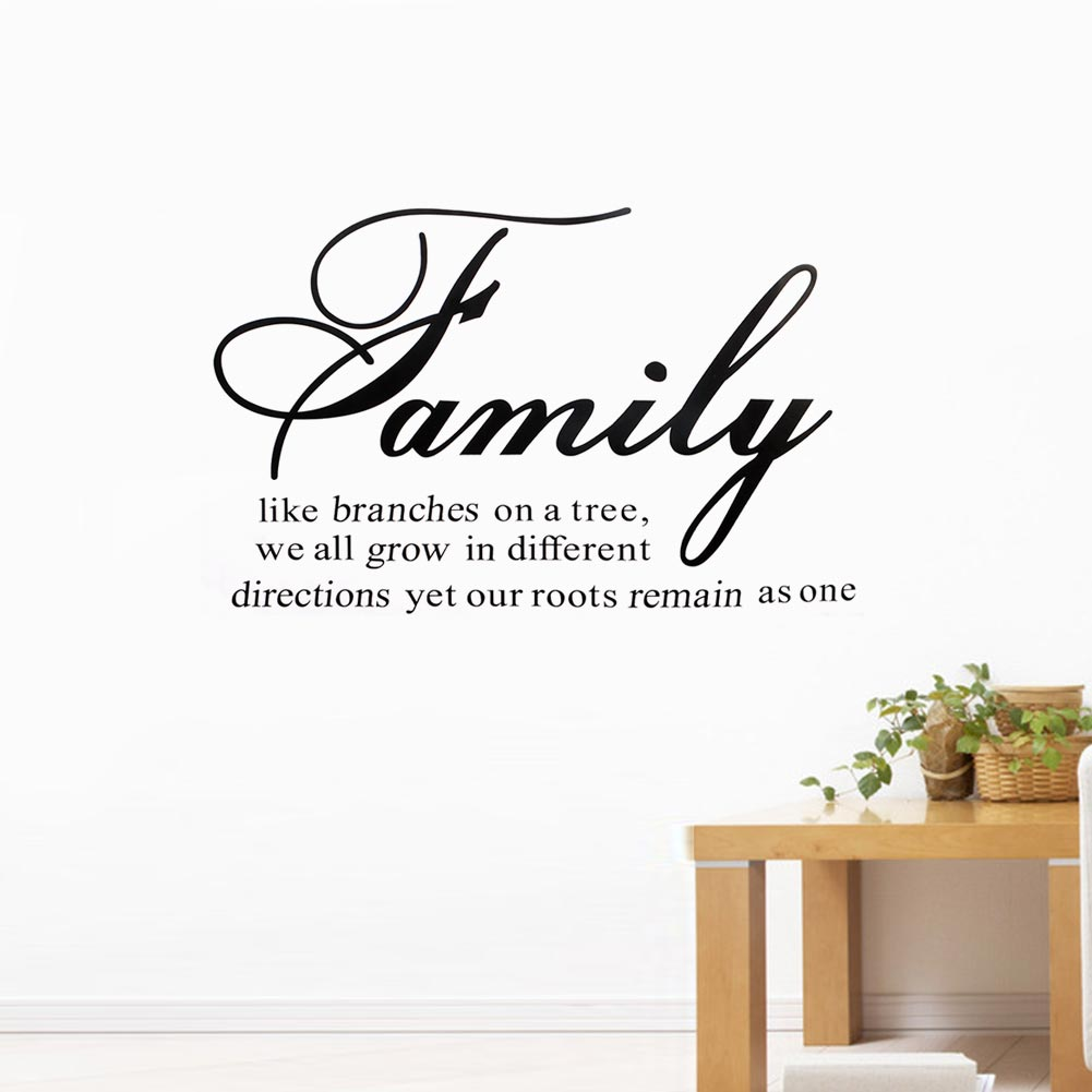 Hot Family Like Branches on a Tree Warm Quote Diretions Art Decal Wall Sticker Mural Decals Room Home Decoration Removable