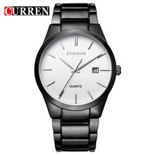 CURREN 8106 хронограф мужские часы Топ бренд класса люкс модные повседневные водонепроницаемые Дата из натуральной кожи спортивные военные муж...(Китай)