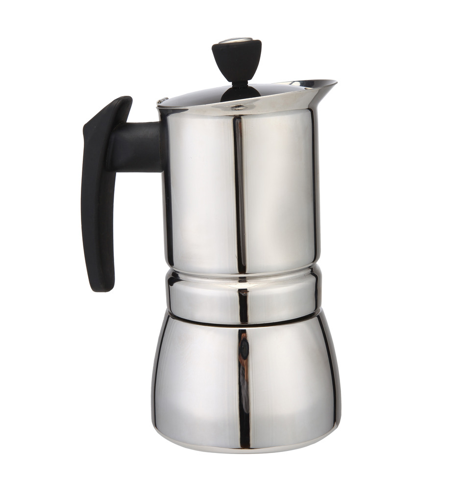 2016 New 300 ML, 6 Cup Stainless Steel Moka Stovetop
