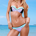 2016 Fashion Swim Suits Sexy Bathing Suit New Bikini Sets Patchwork Beach Wear Underwire Swimwear maillot