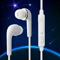 White Hands Free Earphones Mini Stereo Sports Earphones Headset Headphones w Mic Universal For Xiaomi iPhone