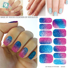 Waterproof nail stickers selling second generation move water make-up nail art decal sticker decorations-free Nail Polish K5722B