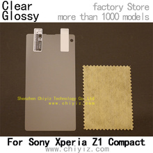 2 x High Quality Clear Glossy Screen Protector Film Guard Cover For Sony Xperia Z1 Compact D5503 Z1 mini M51w