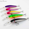 1 PC lot Fishing Lure Minnow Hard Bait with 2 Fishing Hooks Fishing Tackle Lure 3D