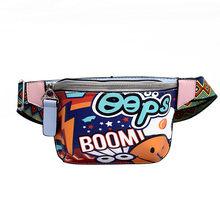 2019 Женская нагрудная сумка, сумка на плечо, городская прогулочная сумка с принтом граффити, широкая Наплечная Сумка, городская сумка, поясна...(Китай)