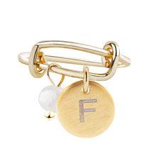 Оригинальная новая 26 Алфавит Первоначальный кольцо 26 круглые золотые кольца с буквами для Для женщин пресноводный жемчуг открытые, кольца ...(Китай)