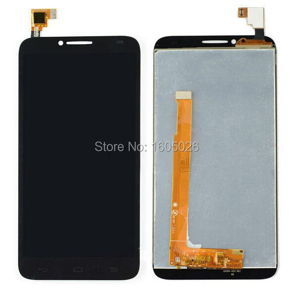 Для Alcatel One Touch идол 2 OT6037 6037 6037Y нью-черный жк дисплей планшета + сенсорный экран стеклянная панель ассамблеи замена