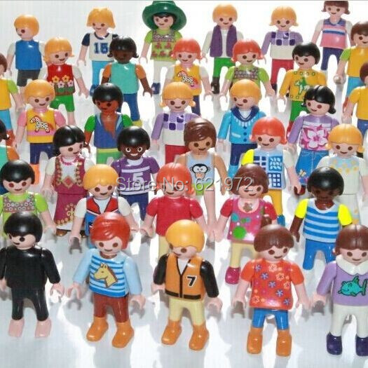 10pcs/lot Original Playmobil Action Figures Toy Classical Collection Toys for Children Small People Blocks Dolls Free Shipping