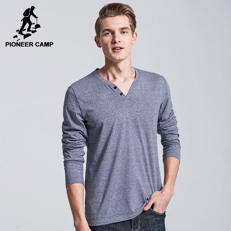 Pioneer Camp Men T Shirt New 2017 Cotton Simple Print: Active Clothing Brand Promotion-Shop For Promotional