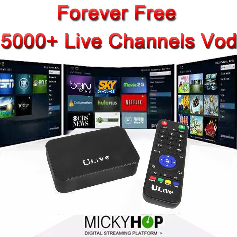 Hot Forever free 5000+ live Channels Android TV Box kodi fully loaded  Russian English Germany French Turkey Arabic IPTV Adult - drone4sky