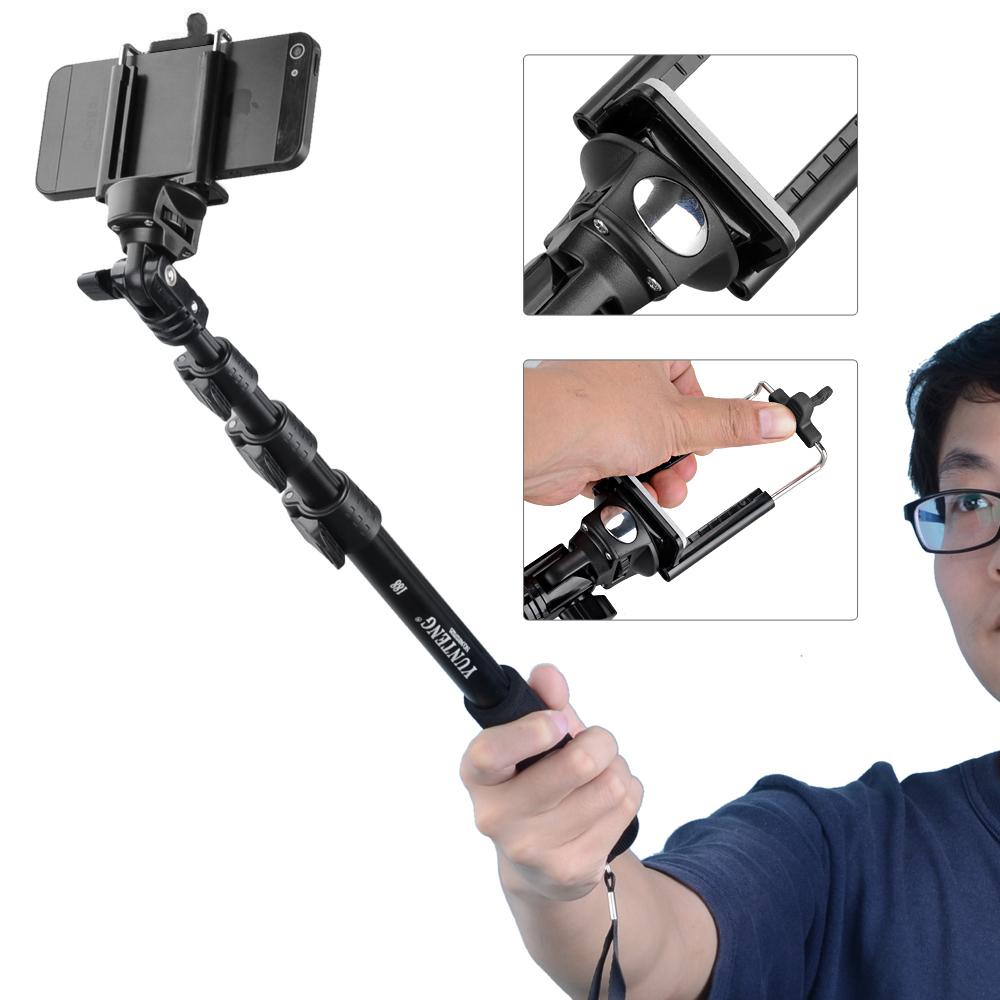 Yunteng 188 Ручной Выдвижная Полюс Selfies Камеры Монопод Селфи Придерживайтесь Штатив Para Селфи Для Телефонов