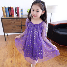 Age 5 14 Summer Girl Dress Girls Princess Dress Mesh Dress Gold Foil Color Of Love