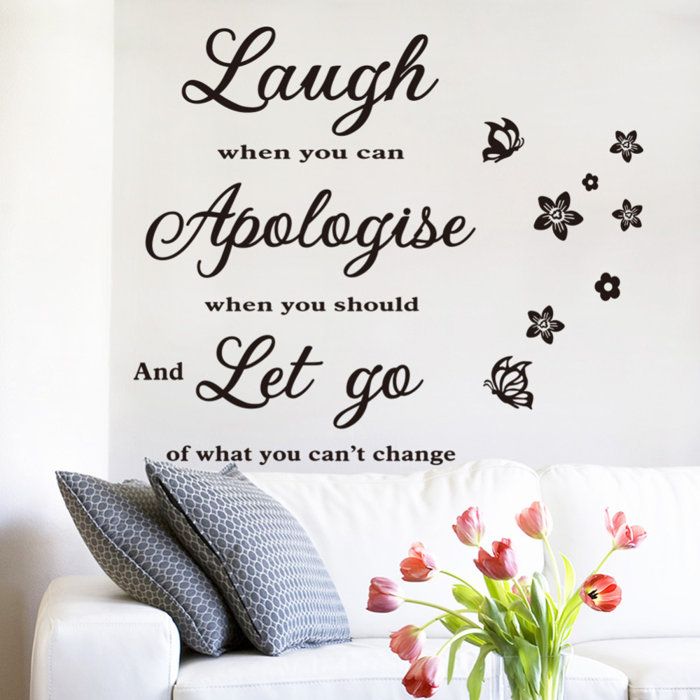 Buy Me Flowers Quote: Aliexpress.com : Buy Laugh Apologize Let GO Butterfly